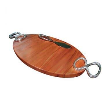 Деревянная сырная доска Infinity с ножом,  дизайн Wey Young