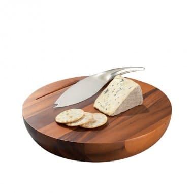 Деревянная сырная доска Harmony с ножом,  дизайн Wey Young