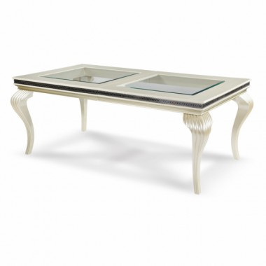 Обеденный стол со стеклянными вставками Pearl Caviar