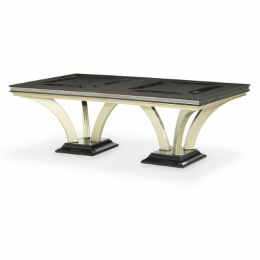 Большой обеденный стол со стеклянными вставками Caviar