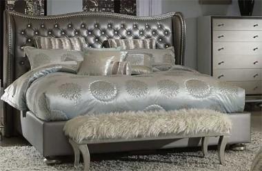 Кровать размер Eastern King цвет Metallic Graphite