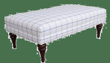 Пуф - коктейльный стол прямоугольный, Ivory/Blue