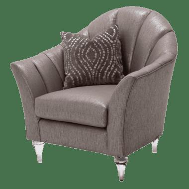 Кресло кожаное, вертикальная строчка
