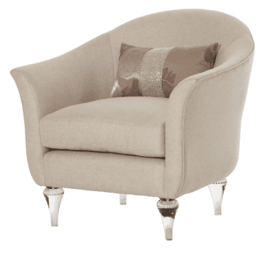 Кресло для чтения, Platinum, хрустальные ножки
