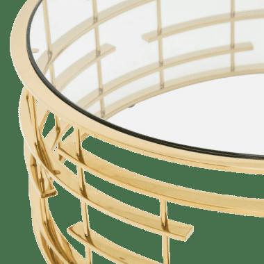 Plexus Круглый журнальный стол, Gold