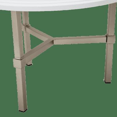 Vortex  Круглый журнальный стол,топ из белого стекла