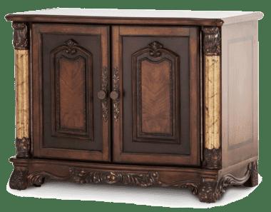 Книжный шкаф с двухдверной тумбой, открытый